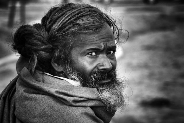 Sadhu - fotokunst von Jagdev Singh
