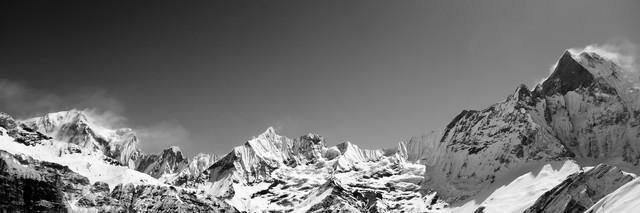 Himalaya - Machapuchre Panorama - fotokunst von Marco Entchev