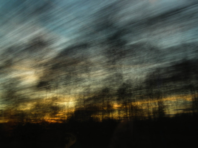 moving sunset - fotokunst von Christiane Wilke