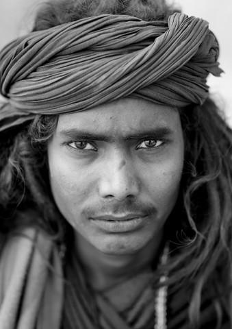 Black Naga At Maha Kumbh Mela, Allahabad, India - fotokunst von Eric Lafforgue