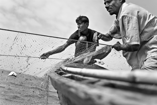 Fishing in the bay of Bengal - fotokunst von Jakob Berr