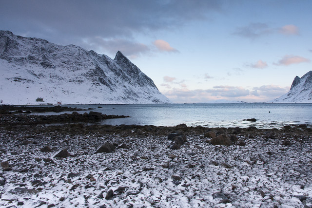 Winter an der Küste der Lofoten - fotokunst von Stefan Blawath