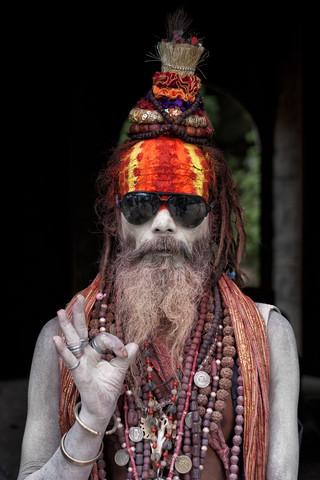 Colorful Sadhu - fotokunst von Jagdev Singh