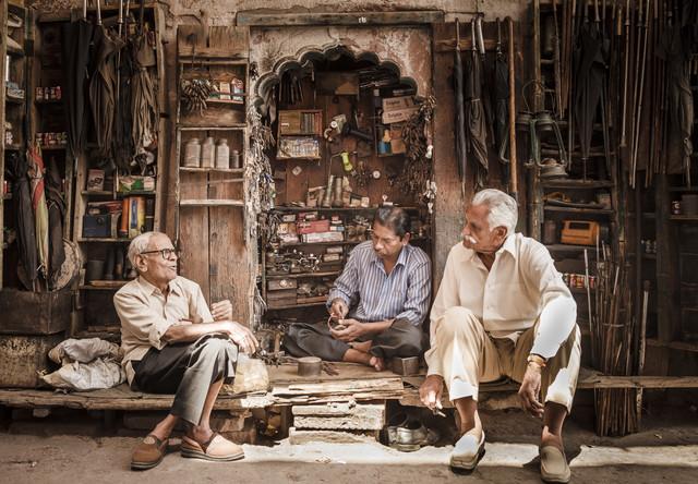 Drei alte Männer - fotokunst von Jens Benninghofen