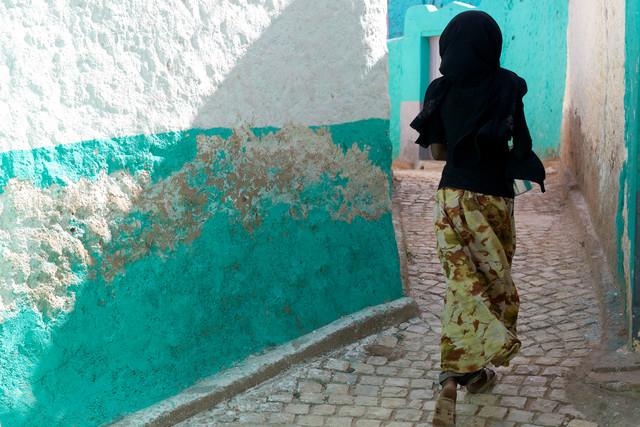 Running girl, Ethiopia - fotokunst von Christina Feldt