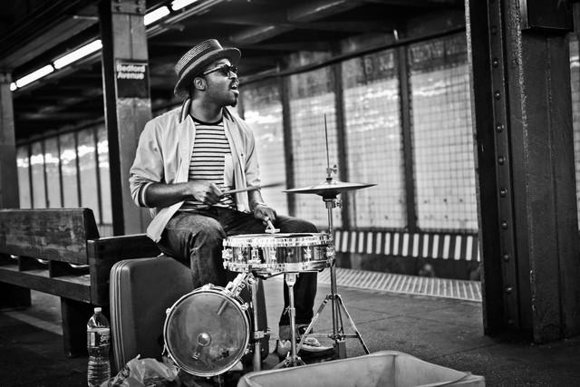 Mr. Reed in der Subwaystation No. 2 - fotokunst von Jens Nink