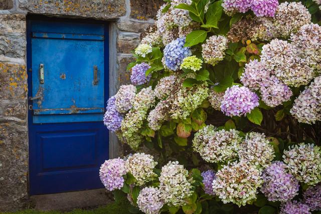 Die blaue Tür - fotokunst von Monika Schwager