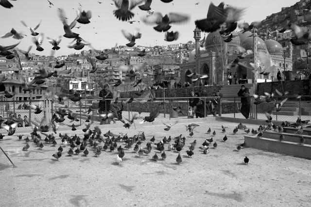 Kart-e Sakhi Mosque, Kabul - fotokunst von Christina Feldt