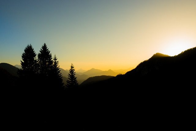 Sunset in the Austrian Alps - fotokunst von Manuel Ferlitsch