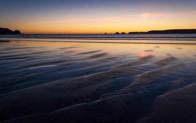 Farbige Zeit am Meer - fotokunst von Monika Schwager
