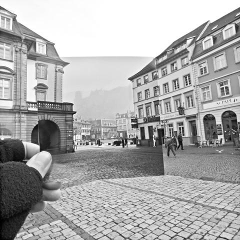 Heidelberg Marktplatz 1978//2013 - fotokunst von Sophia Frohmuth