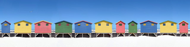 The Colors of Muizenberg - fotokunst von Jochen Fischer