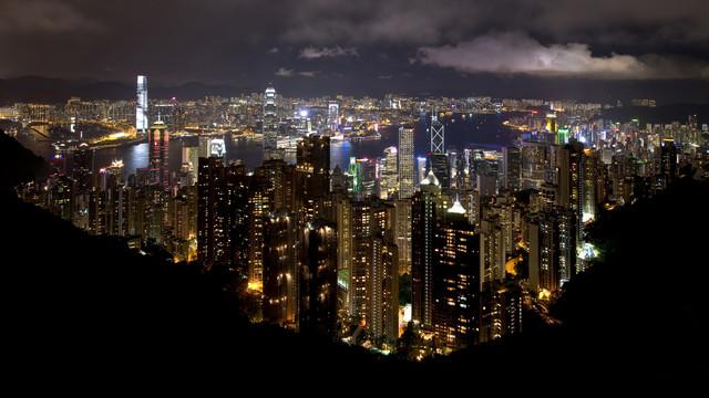 Victorias Peak Hong Kong - fotokunst von Matthias Reichardt