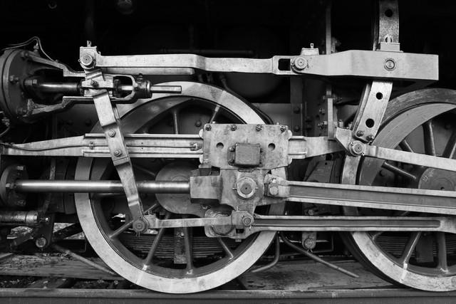 Dampflok Räder - fotokunst von Falko Follert