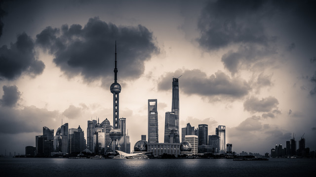 Lujiazui Drama - fotokunst von Rob Smith