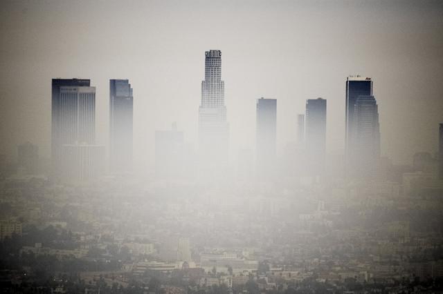 LA Skyline - fotokunst von Lars Jacobsen