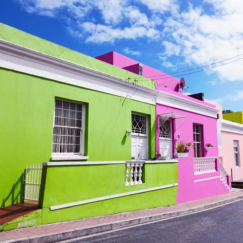 Fassade in Bo-Kaap, Cape Town - fotokunst von Eva Stadler