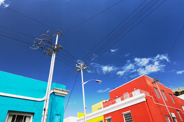 Houses in Bo-Kaap, Cape Town - fotokunst von Eva Stadler