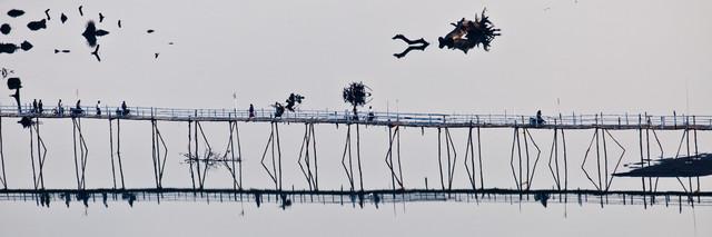 Bridge Over Peaceful Water - fotokunst von Marc Rasmus