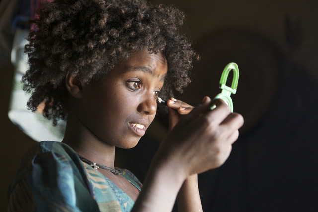 Tigray girl, Northern Ethiopia - fotokunst von Christina Feldt