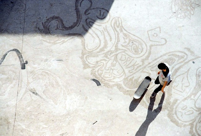 Skateur aux Abattoirs de Casablanca - fotokunst von Daniel Ritter
