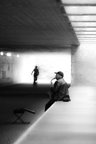 streetmusic - fotokunst von Michael Schaidler