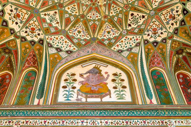 Ganesh Pol – Deckenmalerei des Eingangstores - fotokunst von Ralf Germer