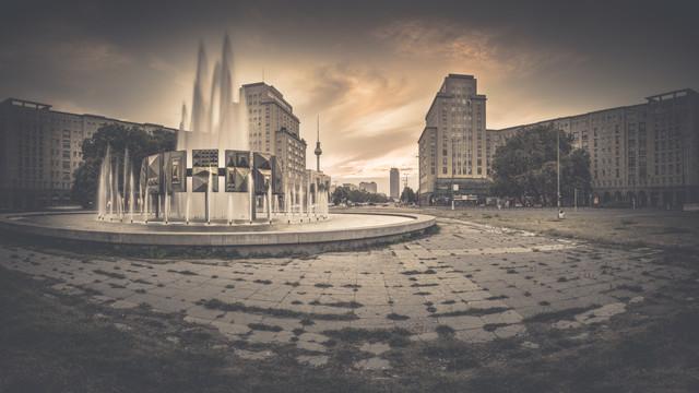 Strausberger Platz Panorama - fotokunst von Ronny Behnert