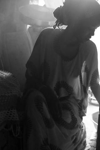 Afar woman in Northern Ethiopia. - fotokunst von Christina Feldt