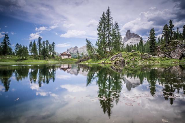 Lago di Federa - fotokunst von Markus Van Hauten