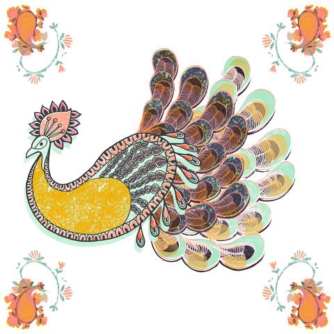 Paisley Peacock - fotokunst von Catalina Villegas