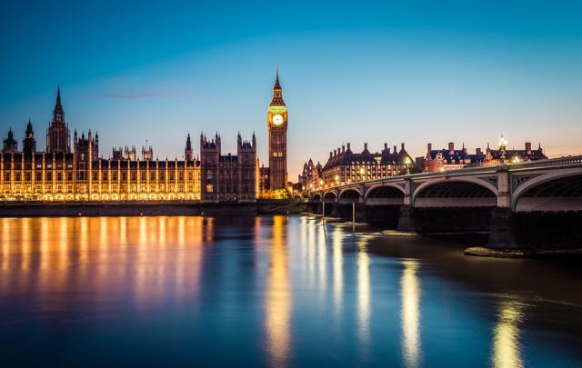 London Westminster Bridge und Palace of Westminster - fotokunst von David Engel