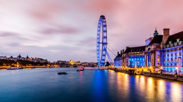 London Eye und Themse - fotokunst von David Engel