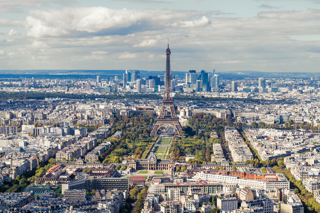 Paris Panorama mit Eiffelturm - fotokunst von David Engel