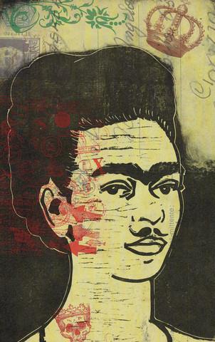 Frida Kahlo - fotokunst von Amalia Caratozzolo