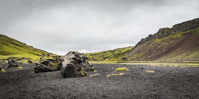 Ofaerufoss, Island - fotokunst von Norbert Gräf