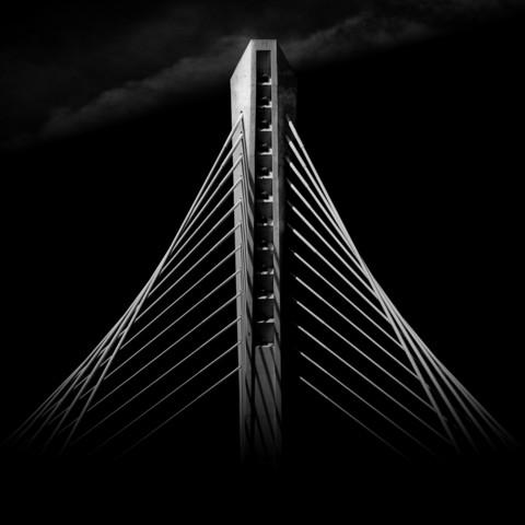 Neue Brücke, Podgorica, Montenegro - fotokunst von Ernst Pini