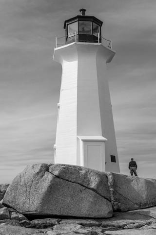 Leuchtturm in Nova Scotia - fotokunst von Jörg Faißt