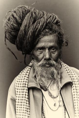 The holy man - fotokunst von Jan Møller Hansen