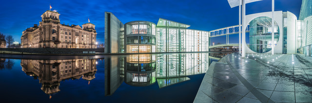Berlin - Regierungsviertel Panorama Studie III - fotokunst von Jean Claude Castor