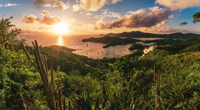 Antigua - English Harbour Sunset - fotokunst von Jean Claude Castor