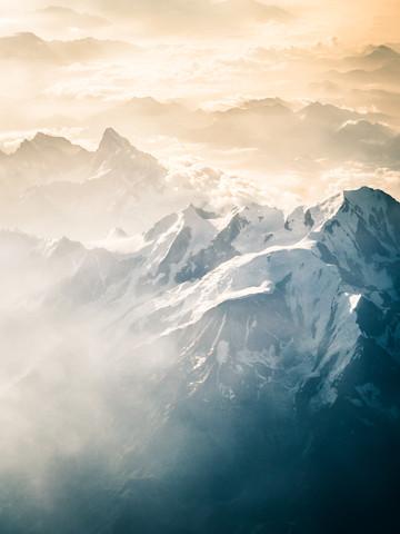 Über den Französischen Alpen 3 - fotokunst von Johann Oswald