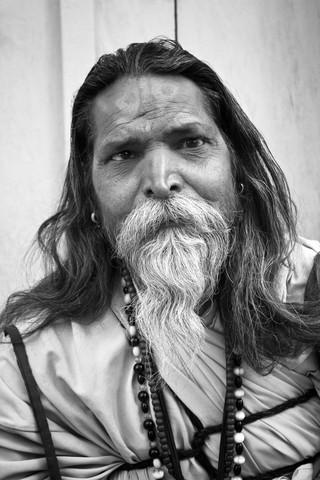 a sadhu in bliss - fotokunst von Jagdev Singh
