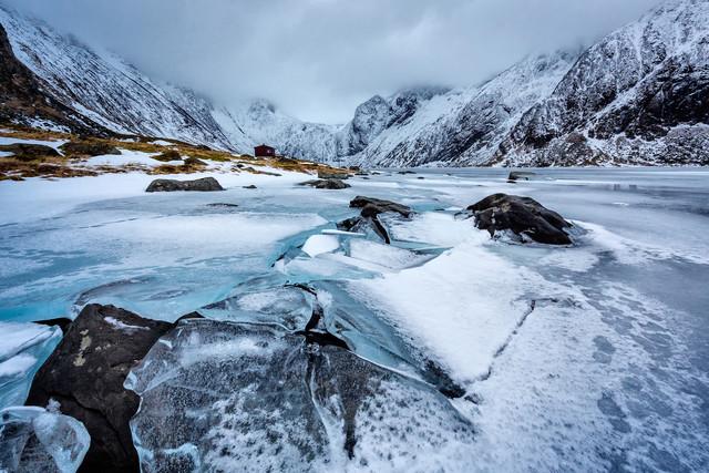 Broken ice // Lofoten islands, Norway - fotokunst von Eva Stadler