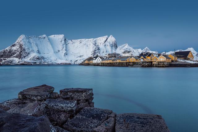 Sakrisøy // Lofoten islands, Norway - fotokunst von Eva Stadler