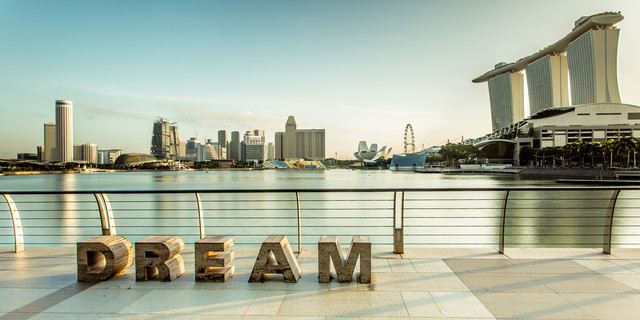 Singapur - D R E A M - fotokunst von Sebastian Rost