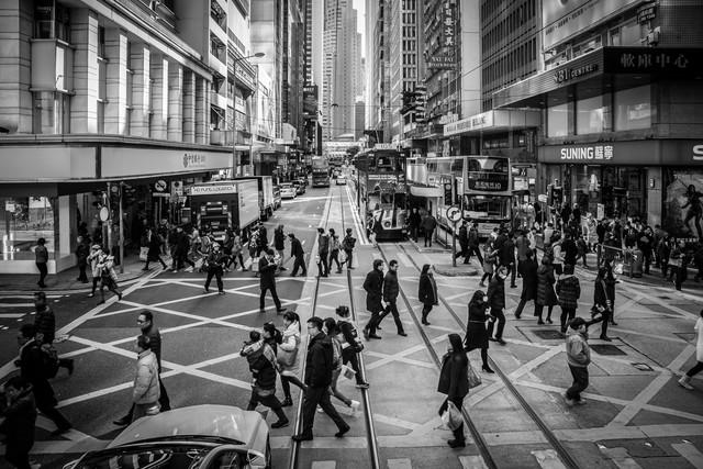 hongkong traffic - fotokunst von Sebastian Rost