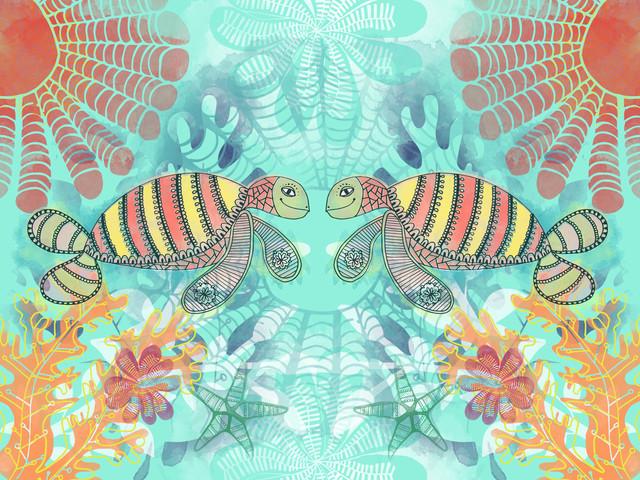 Meeresschildkröten - fotokunst von Catalina Villegas