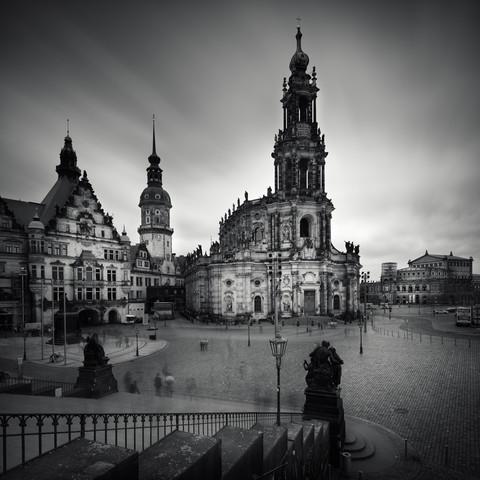 Hofkirche Dresden - fotokunst von Richard Grando