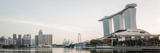 Marina Bay Singapur - fotokunst von Sebastian Rost